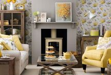 Yellow and grey lounges