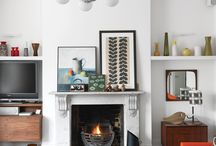 Fabulous Fireplace Designs / Stunning fireplace designs from sleek Mid Century Modern to rustic country,  contemporary, Scandi & ethnic.