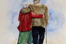 alte Paare in Love / Die erste Liebe von jemand zu sein ist schön, ~~ unbezahlbar ist jedoch, die letzte Liebe von jemand zu sein