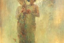 """Peintures - Hu Jundi / """"La peinture est une poésie muette et la poésie, une peinture parlante."""" Marie-Philippe Commetti"""