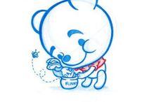 Blue doodles