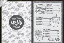 Fast Food Menu Design