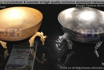 African Giraffe Bowls / We design & manufacture exclusive aluminium bowls.We have been serving many reputed international Brands.Our aluminium tableware,homeware & other products are handmade.For your need and requirements,please visit us at http://www.sfhindia.com for trade inquiry.