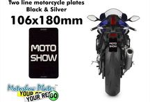 Black & Silver motorcycle number plates Acrylic / in this board you can find our Black and Silver plates we offer  www.motoshowplates.com/silver-plates