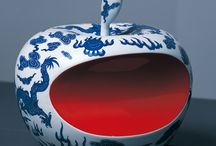 LI LIHONG / Chinese ceramist - coming from a village which has been the producer of the royal CHINESE porcelain for hundreds of years, he combines designs and manufactures traditionally painted in China with shapes known to all as some of the most well known symbols of Western cultural influences in the world today