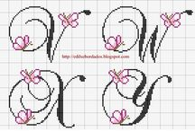Haft krzyżykowy - Monogramy i alfabety