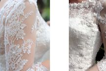 Lace sleeves on wedding dresses / Its lovely having lace on the arms, it looks very pretty on the skin