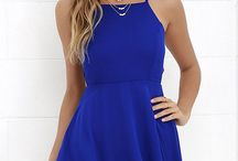 vestidos cortos azul rey