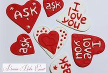 AŞK / aşk, sevgililer günü, love, valentine day, sevgili kurabiyeleri, 14 şubat, aşk kurabiyeleri, butik kurabiye, sevgililer günü kurabiyeleri