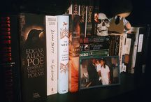 book photography. / all work by me. photographs of my shelf and other various reading materials.