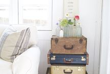 Summer decoration suitcase