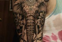 Татуировки со слонами
