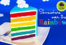 Regenbogentorte