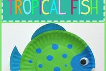 Paper plate sea life