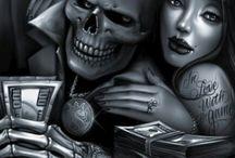 sҡʊʟʟs ❤❤ / ..because my man likes skulls haha so why not