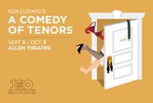 """Ken Ludwig's A Comedy of Tenors / Three tenors. Three egos. One stage. What could possibly go wrong? Producer Henry Saunders is about to find out as he attempts to stage the concert of the century. But with an amorous Italian superstar and his hot-blooded wife causing chaos on an operatic level, all bets are off! As opening night draws near, flaring tempers, mistaken identities, and bedroom hijinks bring new meaning to the phrase """"the show must go on,"""" in this laugh-out-loud farce set amidst the glitz and glamour of 1930s Paris."""