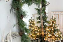 Świąteczne dekoracje / Lustro na święta
