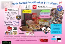 """2016 Food & Toy Basket Drive: """"Thankful for your Kindness, Generosity, Time & Effort again!"""" / We are writing to express our deepest thanks for your recent donation to Chinatown Service Center. Generous gifts from donors like you provide the financial and moral support needed to continue our mission. With your faithful financial contributions over the years, you've demonstrated your deep commitment to our work of providing more than 200 food baskets and 400 toys for CSC low-income families and individuals during this holiday season 2016!"""