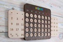 kalendarz drewno