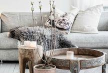 wonen / Landelijk interieur: hout, staal, leer, natuur, dekens en kussens. Veel ramen en ruimte, kleur: pastel