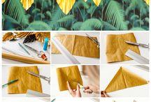 hojas en papel