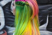 Colorful hairstyles - Creative hair colors.