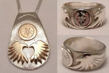 Cherokee Rings / Cherokee Style Rings in silver golds and platinum