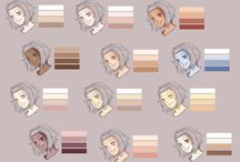 Characters- Skin tones / This one is all about skin colours of all types and how to shade skin.