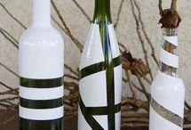 Garrafas De Vinho reutilizadas