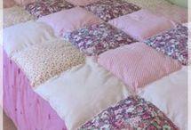 tapis en carreaux cousus