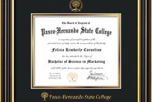 Pasco-Hernando State College Diploma Frames & Graduation Gifts! / Official PHSC Diploma frames. Exquisitely crafted to exacting specifications for your diploma. Custom framed using hardwood mouldings and all archival materials, including UV glass to prevent fading from sunlight AND indoor incandescent lighting! Each frame exceeds Library of Congress standards for document preservation and includes a 100% lifetime guarantee, ensuring that a hard-earned achievement will be honored and protected for generations. Makes a thoughtful and unique graduation gift!