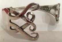 Bijoux / Bracelets en argent massif faits avec des couverts ❤️