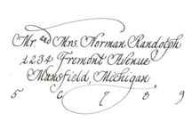 Detroit Wedding Calligraphy / Rosemary and Grace styles available. Allow up to 2 weeks for order to be filled. 1 pc. invitation envelope (outer only) $1.50, 2 pc. inner and outer envelopes $1.75, Lined outer envelopes are 35 cents more a piece, Colored envelopes are 35 cents more a piece, Return address 35 cents each, Placecards 50 cents each (name and number only),Table numbers 85 cents, Shipping $8.00, Email tracie@yourethebride.com 248-408-4602 http://www.yourethebride.com #yourethebride #calligraphy