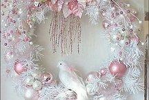White xmas wreath