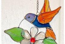 Stainglass.Hummingbirds