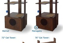 PurrfecTrends Cat Tower / Neat place to hide, pounce & play! Handcrafted, easy to assemble cat tower that is open on all sides. This cat tower will compliment any room.