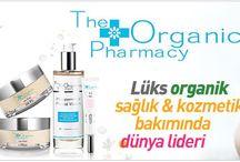 The Organic Pharmacy / The Organic Pharmachy ürünleri formülleri en son teknoloji ve araştırmaları ile birlikte en engin bitkisel homeopathy ve aromathreaphy bilgilerinin harmanlanması sonucu oluşturulmuş  yapay renklendiriciler, kokular,petrokimya ve koruyucu maddeler içermeyen cilt bakım, anne bebek, makyaj ürünleridir.