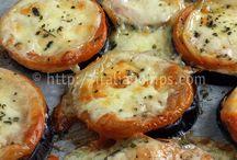 melanzane cestinate pomodoro e formaggio