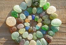 Seaglass, Shells, Pebbles and Painted rock