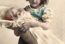 Little mothers with their Dolls