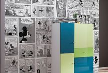Dressing Walls ....... Kid style / Fabulous Fantastical Wallpapers