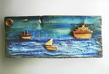 SEA & BOAT MIXED MEDIA