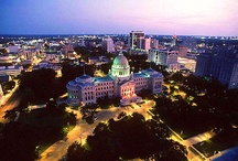 "Capital City / Mississippi's Capital City is conveniently located at the crossroads of Interstate 55 (north-south) and Interstate 20 (east-west) in the heart of our ""Hospitality State.""  As the center for the Metro Jackson area, home to more than 425,000 people, the city of Jackson is steeped in history, music, performing arts, sports, and our truly Southern way of life. / by UMMC"