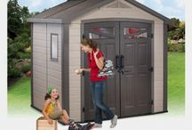Plastic Sheds / Incredibly strong, light weight Resin/Plastic sheds are a growing trend- easy to put up, move and take down if ever needed. They also look amazing with a range of designs