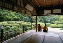 Japanese doorway garden