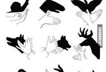 Skygge tegninger med hender
