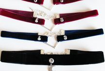 Pretty Badly Velvet Chokers / F/W 2015 collection