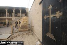 رفع العلم العراقي في كنيسة برطلة