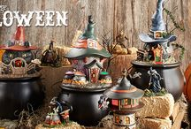 Department 56 - Halloween Snow Village / Frightfully fun and painstakingly detailed. The haunts of this Halloween Village will give you shivers of excitement. Add some spooky accessories and your Halloween will take on a life all on its own!