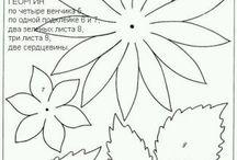 выкройки цветов и листьев из фоамирана